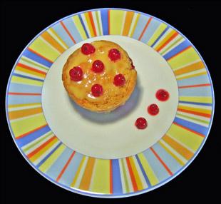Muffins mit Johannisbeeren und Eierlikör