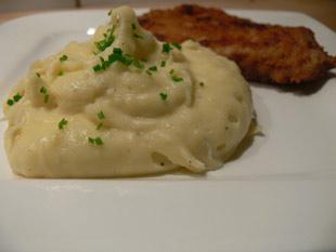 Kartoffelpürre mit Knoblauch