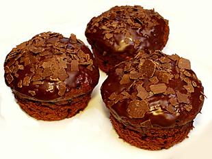Muffins mit Schokolade und Frischkäse