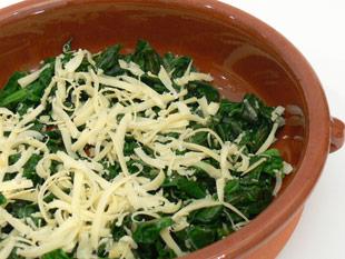 Spinat mit Käse