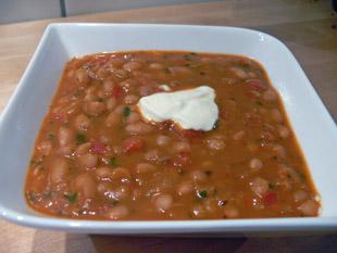 Bohnensuppe mit weißen Bohnen