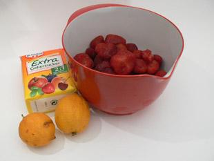 Zutaten für die Erdbeermarmelade