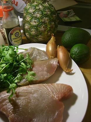 Zutaten für Thunfisch mit fruchtiger Salsa