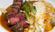 Japanisches Rindfleisch mit Mandarinensauce und Pseudo-Shichimi