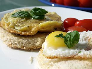Omelette und Spiegelei aus Wachtelneier