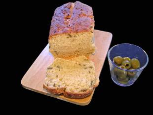 Olivenbrot mit Apfel