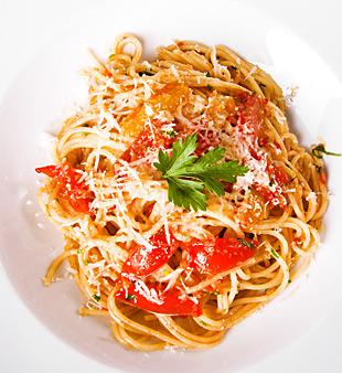 Spaghetti mit Knoblauch und Öl