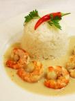 Bananen-Curry mit Shrimp und Duftreis