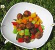 Fischbällchen mit Gemüse