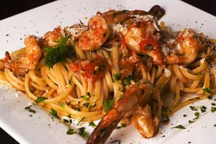 Linguini mit Gambas