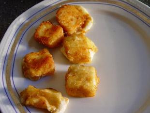 Frittierte Käsewürfel