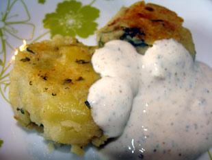 Kartoffelkebap mit Minzchutney