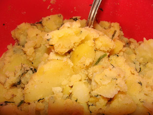Kartoffelmasse mit Gewürzen
