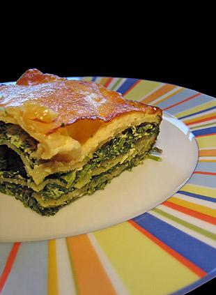 Lasagne mit Spinat und Ricotta