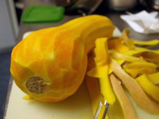 Butternut-Squash Kürbis geschält