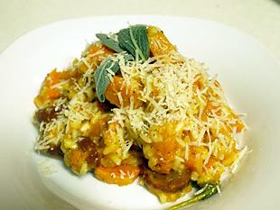 Kürbissrisotto mit Chorizo