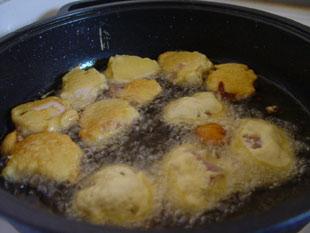 Hähnchennuggets ausbacken