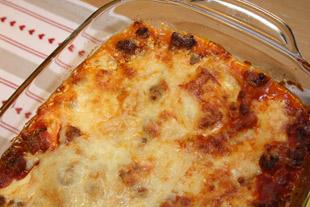 Lasagne fix und einfach, angerichtet
