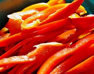 Paprika-geschnitten