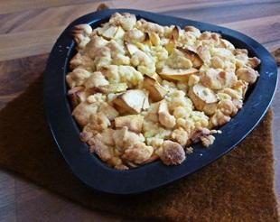 Apfel-Streusel-Kuchen fertig gebacken