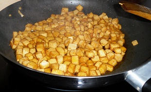 Tofu anbraten