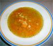 Klare Kürbissuppe mit Nudeln