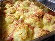 Blumenkohl-Kartoffel-Gratin mit Schinken
