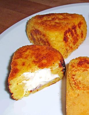 Kartoffelecken mit Frischkäse