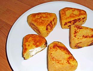 Vegetarische Kartoffelecken mit Frischkaese