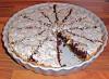 Schoko-Tarte mit gehackten Walnüssen