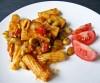 Rigatoni mit dicken Bohnen und Tomaten
