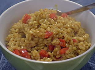 Curryreis mit Paprika
