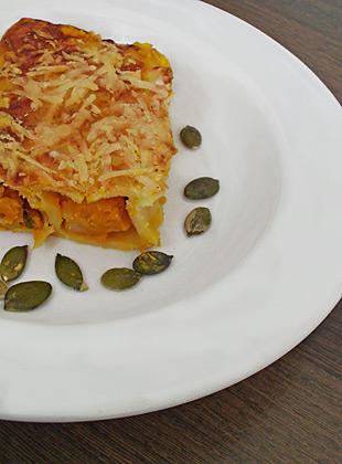 Kürbis-Cannelloni - angerichtet