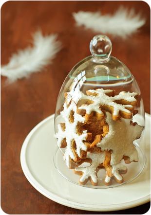 Lebkuchen-Schneeflöckchen