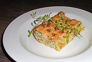 Cannelloni mit Rucola und Thymian gefüllt
