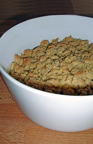 Crumble: Früchte mit Krümeln überbacken
