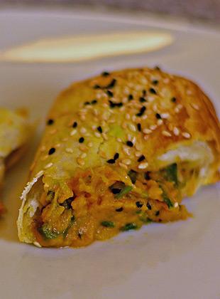 Börek mit Süßkartoffelfüllung