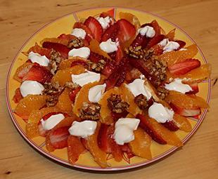 Erdbeer-Orangen-Carpaccio