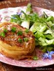 Krautkrapfen mit Spargel-Salat