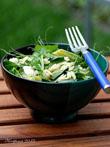 Grüner Orzosalat mit Spargel und Spinat