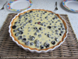 Brombeertarte mit weier Schokolade