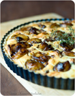 Tarte mit karamellisiertem Balsamico-Knoblauch